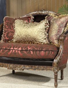 Great CHOCOLATE RASPBERRY SETTEE. HC · Victorian FurnitureVictorian ...