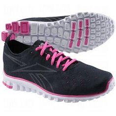 Reebok Women's RealFlex Uform Running Shoes. Reebok Womens Realflex Uform Trainers  Black/Dynamic Pink ...