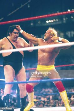 Wwf Superstars, Wrestling Superstars, Famous Wrestlers, Wwe Wrestlers, Wrestling Stars, Wrestling Wwe, Wwe Lucha, Andre The Giant, Vince Mcmahon