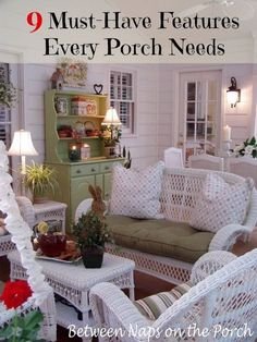9 Great Features to Include in a Screened Porch  from Between Naps on the Porch.