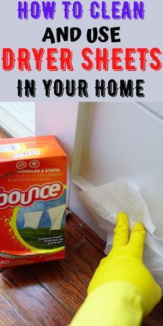 household hacks You can use dryer sheets to clean basically clean anything in your home, just like whats in the picture , but now I have so many uses for it. I clean my baseboards whic House Cleaning Checklist, Diy Home Cleaning, Household Cleaning Tips, Cleaning Recipes, Diy Cleaning Products, Cleaning Solutions, Spring Cleaning, Cleaning Hacks, Hacks Diy