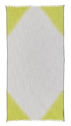 90d3723fa70 Foulard en coton blanc et jaune. Parfaite pour le printemps