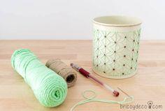 reciclar latas de conservas con aguja e hilo