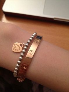 Tiffany OFF! What other arm Candy do U stack w/ your Cartier Love Bracelet? - Page 2 - PurseForum Tiffany Bracelets, Tiffany Jewelry, Diamond Bracelets, Love Bracelets, Tiffany Rings, Bangles, Cute Jewelry, Jewelry Box, Jewelry Accessories