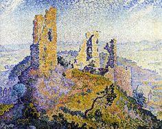 The Ruins of Grimaud, 1899. Paul Signac