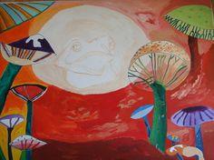 "Saatchi Art Artist: Diana de Molinari; Oil 2011 Painting ""La danse des champignons"""