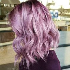 gorgeous pinky purple lilac lavender hair