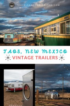 Check out this amazing vintage trailer park and boutique hotel collection outside Taos, New Mexico and explore things to do in Taos. * Taos New Mexico places to stay | places to stay in Taos | best airbnb in new mexico | taos new mexico airbnb | best airbnb new mexico | vintage trailers | vintage trailer park | vintage trailer hotel | hotel luna mystica | vintage trailer renovation ideas | vintage trailer community | what to do in taos new mexico | best things to do in taos
