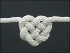 How To Tie A Heart Knot...how sweet.
