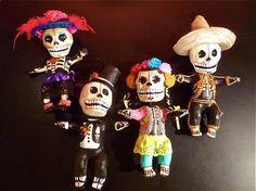 "Porfiritos<br />Mexico City<br />paper mache dolls<br />8"" high<br />$62.00 each"