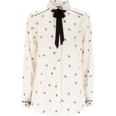 Warehouse Bee Print Blouse. ($72) ❤ liked on Polyvore