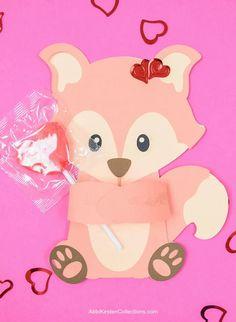 Cute Woodland Animal Valentine's Huggers - Free Fox SVG Cut Files