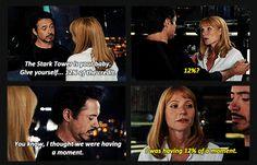 The Avengers ... Tony & Pepper, 12%