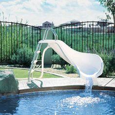 The Pool Slide is up Swimming pool decks in 2019 Pool