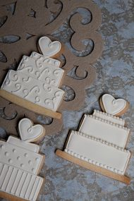 Wedding cake cookies - have the cutter, need more practice.