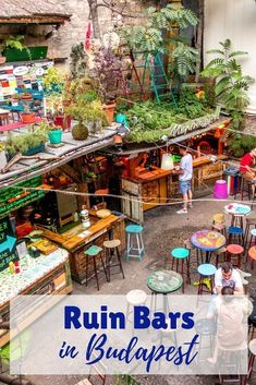 Ruin bars in Budapest have a vibe all their own. From funky sophisticated, these… Ruin bars in Budapest have a vibe all their own. From funky sophisticated, these pubs are some of the best bars in Budapest, Hungary. China Travel Guide, Europe Travel Tips, European Travel, Travel Guides, Travel Destinations, Budapest Ruin Bar, Budapest Travel, Budapest Things To Do In, Berlin Travel