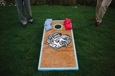 UNC corn hole perfect for a wedding reception, graduation party, rehearsal dinner