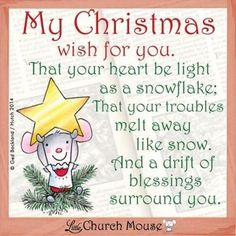 Little Church Mouse. Little Church Mouse is on a mission - A mission to spread love and Christian values through humor. Christmas Wishes Quotes, Christmas Verses, Christmas Fun, Xmas, Christmas Messages, Christmas Villages, Christmas Nativity, Christmas Baubles, Christmas Humor