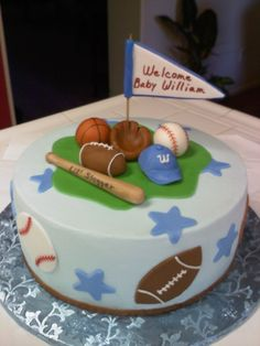 Love this cake...especially that my 11 year old baby is named William and he loves baseball!!!