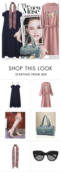 """""""Cami Midi Dress"""" by oshint ❤ liked on Polyvore featuring N°21, Le Specs and Chanel"""