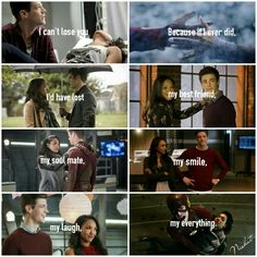 I can't lose you, because if I ever did I would lose my everything. Barry Allen and Iris West #WestAllen #The Flash