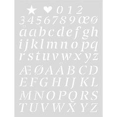Handig groot herbruikbaar sjabloon met alle sierlijke letters van het alfabet. Leuk voor het eenvoudig aanbrengen van een tekening op de muur, vloer, plafond, m