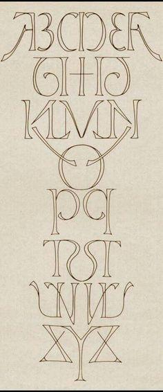 Symmetrical alphabet