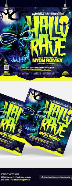 Halloween Neon Party by EAMejia | GraphicRiver