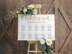 Wedding Seating Chart Alphabetical, Alphabetical Seating Chart, Find your seat, Wedding Table Plan, Table seating chart wedding Seating Chart Wedding Template, Table Seating Chart, Wedding Table Seating, Wedding Templates, Banquet Seating, Wedding Programs, Wedding Signs, Wedding Ideas, Wedding Decorations