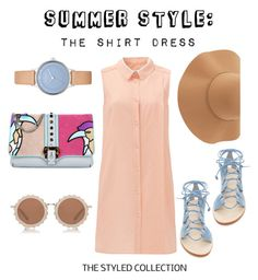 """Fly High"" by melanierece ❤ liked on Polyvore featuring Cornetti, Paula Cademartori, House of Holland, Skagen, Sans Souci and shirtdress"