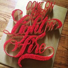 """with ・・・ """"Come on baby light my fire"""" by Are ya gonna light it? Typography Love, Typography Letters, Types Of Lettering, Hand Lettering, Graphic Design Illustration, Graphic Design Art, Type Design, Stick Art, Light My Fire"""