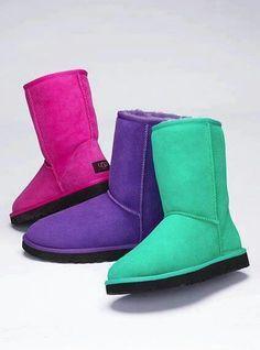 black and purple uggs
