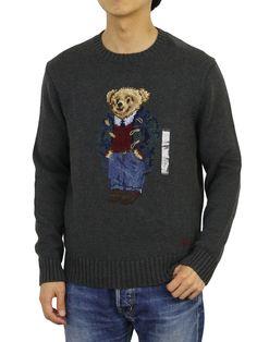 Best polo sweater, New Polo Ralph Lauren Crew Neck Polo Bear Sweater Pullover Sweatshirt - Grey Polo Sweater, Grey Sweatshirt, Grey Sweater, Pullover Sweaters, Graphic Sweatshirt, Ralph Lauren Pullover, Polo Ralph Lauren, Bear Men, Crew Neck