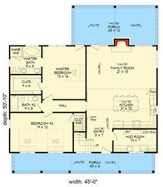 Two Bedroom Vacation Retreat with Spacious Loft - 68420VR floor plan - Main Level