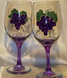 I love painting wine glasses! I have one just like this.