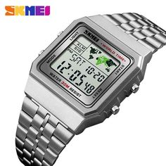 1cf87c2ef1d7 LED Digital Men s Watch Sports Watches Men Relogio Masculino Relojes  Stainless Steel Military Waterproof Wrist watches SKMEI Review