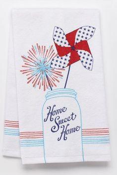 Americana Home Sweet Home Mason Jar Kitchen Towel