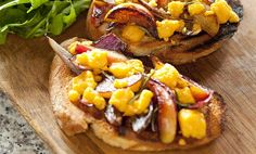Cheshire cheese melt with apple and red onion relish   Organic UK Food