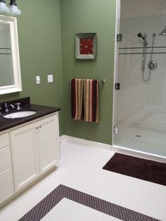 My new bathroom.  Went from crazy to serene.