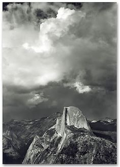 ansel adams - half dome from glacier point, 1947, yosemite national park, california.