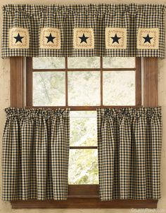 Star Patch Curtain Valance By Park Designs At The Country