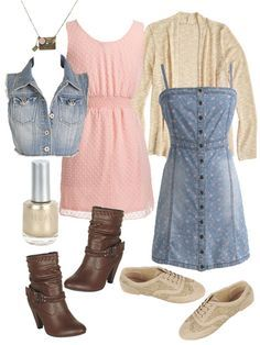 Outfits to wear on the first day of school.