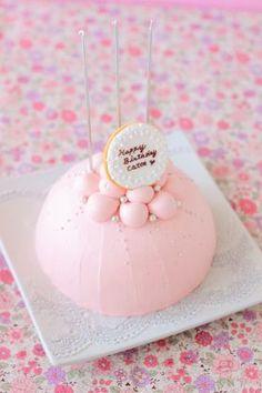 「ピンクのドームケーキ♪」あいりおー | お菓子・パンのレシピや作り方【corecle*コレクル】