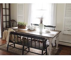 Dining nook with a bench