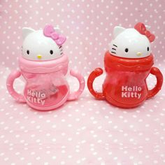 Hello Kitty baby sippy cup with handle and straw. $5.26 from Aliexpress