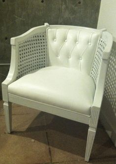 cane chair after.... faux ostrich fabric