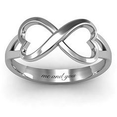 Simple Double Heart Infinity Ring #jewlr