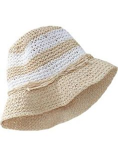 I want a staw sun hat for her so bad! She can match mommy when we go swimming :)