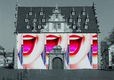 #Lachendes #Rathaus #GroßUmstadt, #Hessen, #digitaleMontage, #Kunst