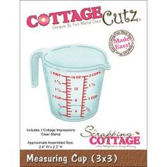 "CottageCutz Die 3""X3"" With Cottage Impressions Clear Stamps-Measuring Cup Made Easy - Overstock™ Shopping - Big Discounts on Cutting & Embossing Dies"